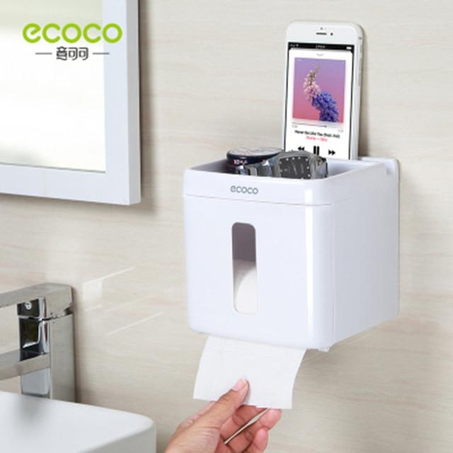 LEDFRE الحمام مقاوم للماء علبة مناديل ورقية من البلاستيك الحائط صندوق تخزين ورقة طبقة مزدوجة RackLF82007