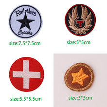 1 PCS Round Stars decals embroidery cute Patches Diy Iron On Emoji Stickers Sewing Badges
