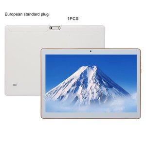 Пластиковый планшет KT107, 10,1-дюймовый HD большой экран, Android 8,10 версия, модный портативный планшет 8 ГБ + 64 ГБ, белый планшет, европейская вилка