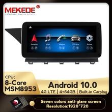 IPS אנדרואיד 10.0 8Core 4 + 64G dvd לרכב רדיו אודיו מולטימדיה נגן GPS ניווט עבור מרצדס בנץ GLK X204 2008   2015