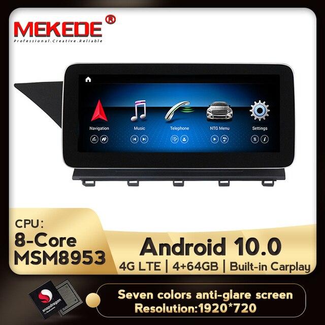 IPS أندرويد 10.0 8Core 4 + 64G مشغل أسطوانات للسيارة راديو الصوت مشغل وسائط متعددة لتحديد المواقع والملاحة لمرسيدس بنز GLK Class X204 2008   2015