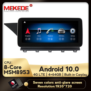 Image 1 - IPS Android 10.0 8Core 4+64G Car dvd radio audio multimedia Player GPS Navigation For Mercedes Benz GLK Class X204 2008   2015