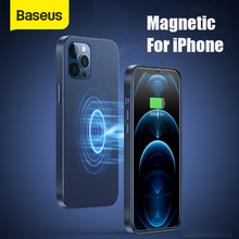 Baseus Magnetic Leather Case For iPhone 12 Pro Max Phone Cover For Phone Back Case Original For iPhone Case Full Cover Simple