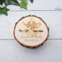 Personalized Rustic Wedding Wood Ring Box Engagement Ring Box Wooden Jewelry Box Ring Holder Wedding Decor