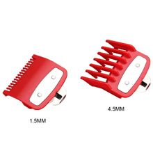2pcs 1.5mm 4.5mm Barber Shop Styling Guide Comb Hair Trimmer Clipper