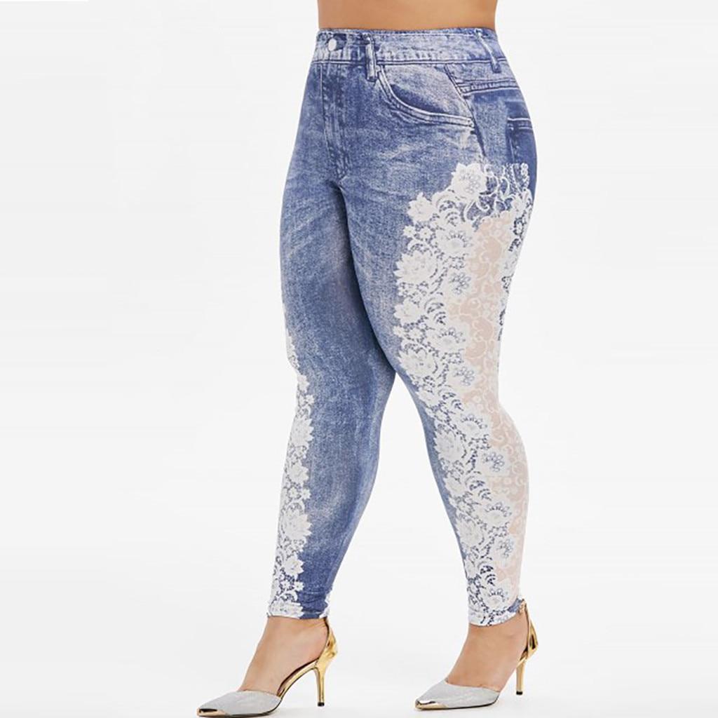 Heeef4bf1b0c547559cf3fc802130efa4v Jaycosin New Fashion Ladies Casual Lmitation Cowboy Pocket Jeans Elastic Stretch Thin Female Soft Loose Leggings Pants 10#4