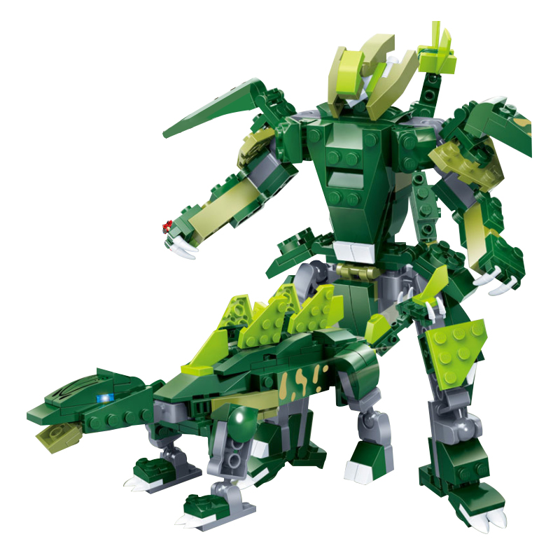 Pour LEGOing créateur 5-en-1 ensemble modèle 10 Types modifiables Mech dinosaure armure Robot jouet briques pour enfants cadeau pour LEGOing créateur - 5