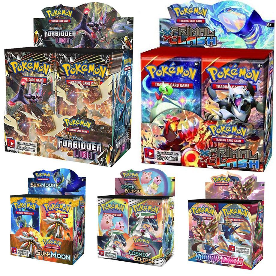 324 카드 포켓몬 TCG Sun & Moon 천상의 폭풍 36 팩 부스터 박스 트레이딩 게임 키즈 컬렉션 완구