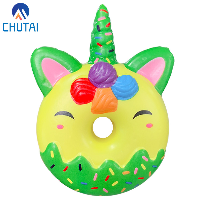 Kawaii Chocolate Unicorn Donut Squishy Scented Soft Slow Rising Squeeze Toys Stress Relief Toy For Kids Party Xmas Gift