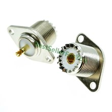 Antena soquete conector de copo uhf so-239, fêmea so-239, 2 furos