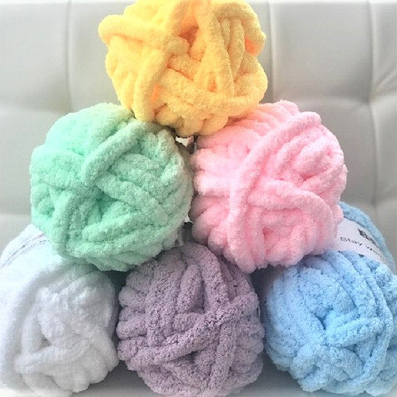Chenille Chunky Knitted Blanket Weaving Blanket Mat Throw Chair Decor Warm Yarn Knitted Blanket Home Decor For Photography D30-5