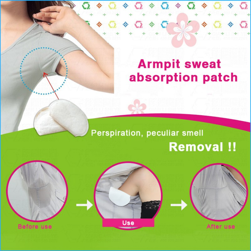 Summer Anti Superthin Perspiration Patches Armpit Sweat Pads 50 Packs Underarm Deodorants Stickers Absorbing Disposable