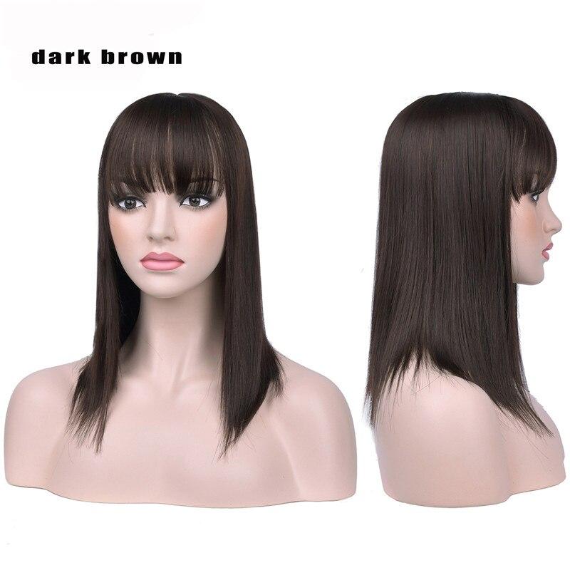 com bang extensão do cabelo sintético em