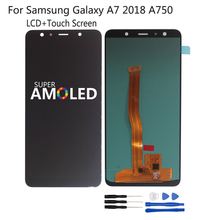 Amoled For Samsung Galaxy A7 2018 A750 A750F LCD Display SM-A750F A750FN A750G Touch Screen Digitizer Assembly Incell Screen LCD