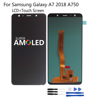 For Samsung Galaxy A7 2018 A750 A750F LCD Display SM-A750F A750FN A750G Touch Screen Digitizer Assembly Incell Amoled ScreenLCD tft a750 lcd for samsung galaxy a7 2018 lcd sm a750f a750f a750 display with frame touch screen digitizer replacement parts