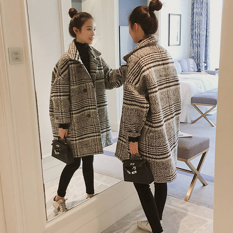 Купить новое стильное шерстяное пальто женское средней длины на осень