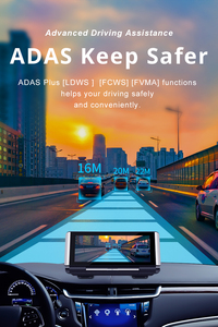 Image 5 - Bluavido 7 inç 4G ADAS Android araç kontrol paneli DVR GPS navigasyon FHD 1080P çift Lens Dash kamera G sensörü araba video kaydedici