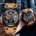 Benyar Horloge Mannen Luxe 2019 Top Merk Heren Waterdichte Horloges mannen Sport Polshorloge Man Lederen Band Klok Relogio masculino