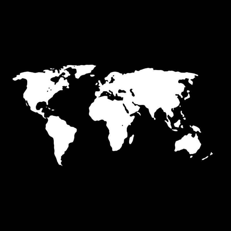 19.2*9.7 سنتيمتر خريطة العالم الفينيل ملصق سيارة التصميم الزجاج الأمامي الوفير الديكور لميتسوبيشي ASX أوتلاندر لاند روفر ديسكفري