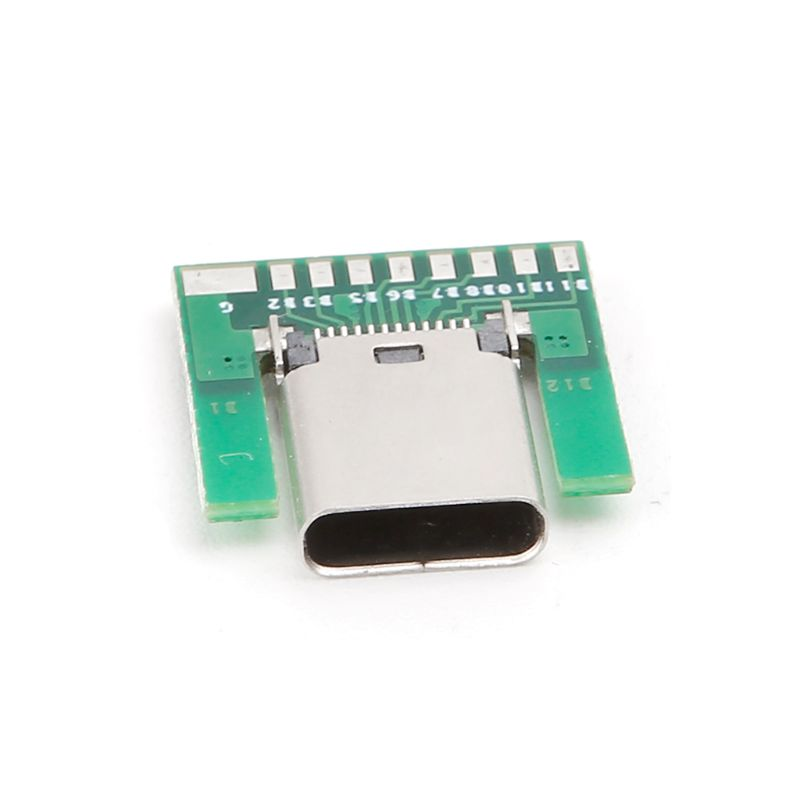 USB 3.1 Type C Female Socket Connector Plug SMT Type With PC Board DIY 24pin E65B