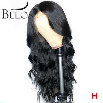 BEEOS Body Wave Brazilian Remy Deep Part 13*6 Lace Front Human Hair Wigs Baby Hair HD Transparent Lace Pre Plucked For Women