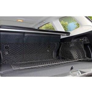 Image 2 - Автомобильный багажник, задний органайзер для груза, сетка для хранения, сетка держатель с 4 крючками, прочные аксессуары для стайлинга автомобиля, эластичный гамак