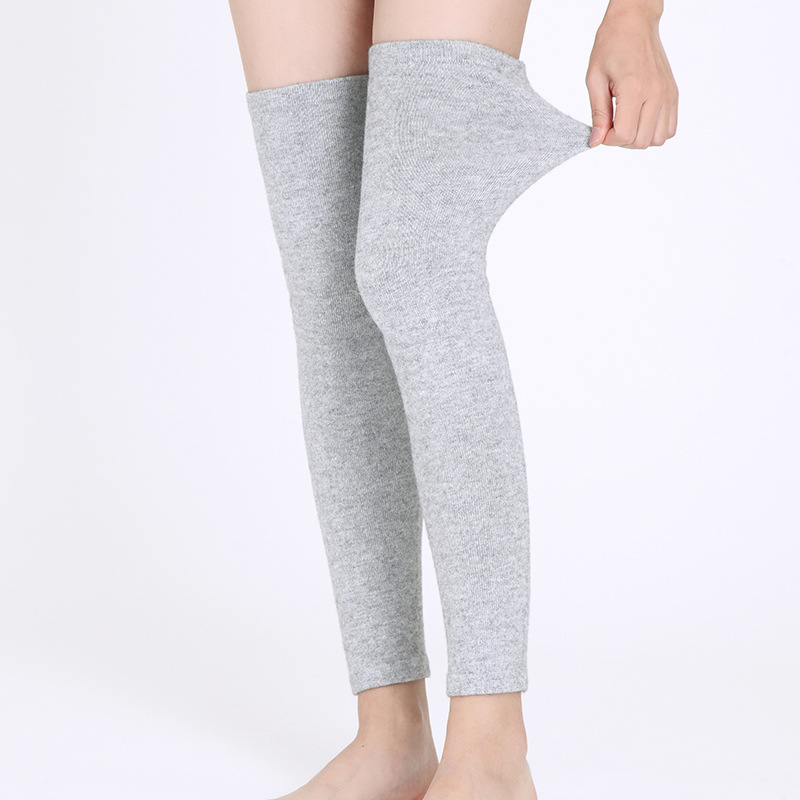 Cashmere Wool Legguard Over-the-Knee Foot Sock Wool Kneecap Long Thick Warm Old Cold Legs Men And Women Autumn And Winter Anti-S
