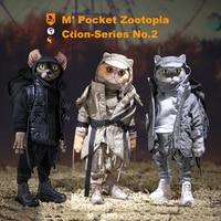 18cm theMr.Z 7 Resin Head Pocket Zootopia Noodle Figure Animal Collection Toys PVC Figure Toys Model for Children Boys Gift