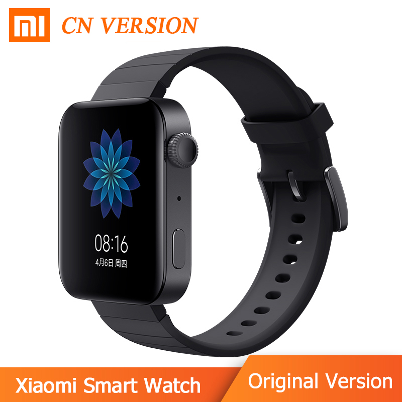 In stock 2019 New Xiaomi Smart Watch CN Version MIUI Qualcomm CPU Support SIM Card Music play Remote Control Home device Sport|Smart Wristbands| |  - title=