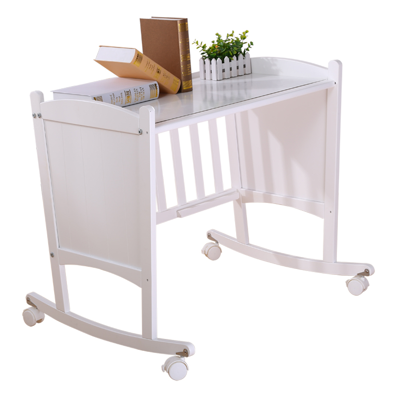 Solid Wood Crib Solid Wood Small Size Bed Newborn Cradle Bed Hand Shake Bed Baby Bed Cradle Bed