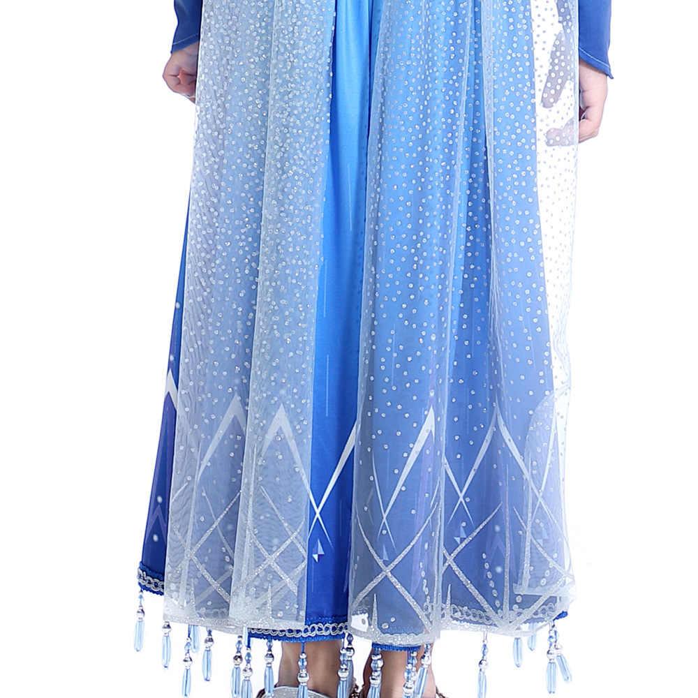 2020 Новое Детское платье для взрослых, рождественское платье для костюмированной вечеринки, дня рождения, Хэллоуина, голубое вечернее платье + корона, комплект для родителей и детей