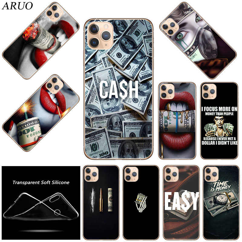 Money Cash Time Silicone Soft TPU Phone Case For iPhone 12 mini 11 Pro XS Max 7 8 6 6s Plus SE2020 X XR 5 5s Fashion Cover