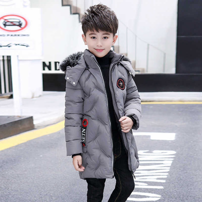 Winter Children Jacket&Coat for Boys Fashion Hooded Outwear Kids Down Coat Padded-Cotton Boy Clothes Outwears Boys Winter