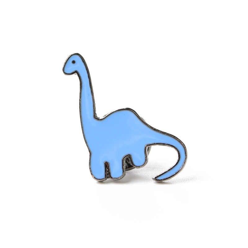 1 個カラフルな恐竜エナメルピン恐竜ジュエリー服ジーンズブローチラペルピン動物バッジファッション針キッズジュエリーギフト