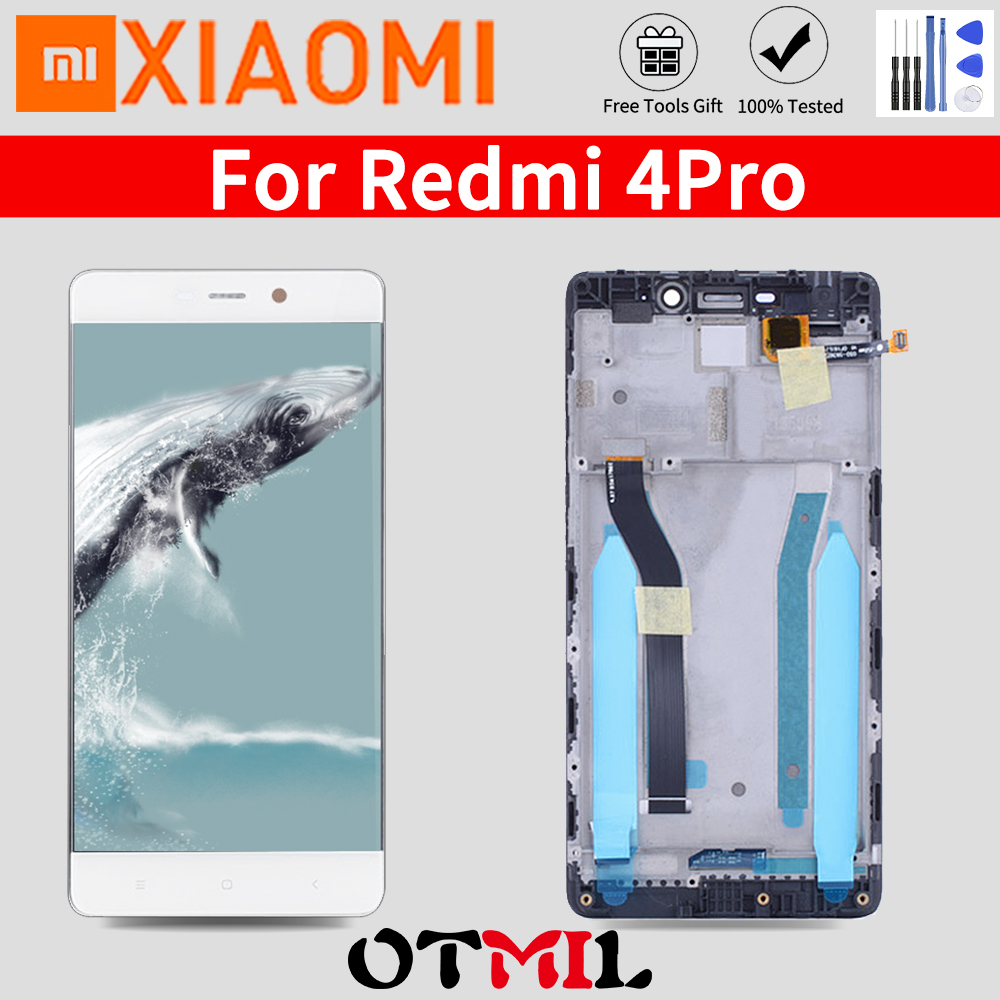 Original 5.0'' LCD For <font><b>XIAOMI</b></font> <font><b>Redmi</b></font> <font><b>4</b></font> <font><b>Pro</b></font> 4Pro Display <font><b>Touch</b></font> <font><b>Screen</b></font> with Frame For <font><b>XIAOMI</b></font> <font><b>Redmi</b></font> <font><b>4</b></font> Prime 3GB 32GB LCD Display image