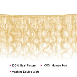 Image 5 - Brazilian Body Wave Blonde Hair Extensions MS Lula 30 Inch Bundles 100% Human Hair Weave Remy 613 Hair Bundles Free Shipping
