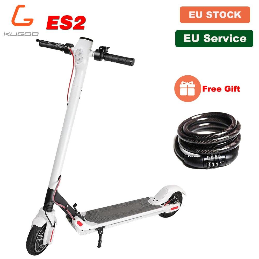 [Stock Europe] KUGOO ES2 pliant électrique adulte Scooter frein à disque 350W 7.5AH e Scooter planche à roulettes électrique pour XIAOMI M365