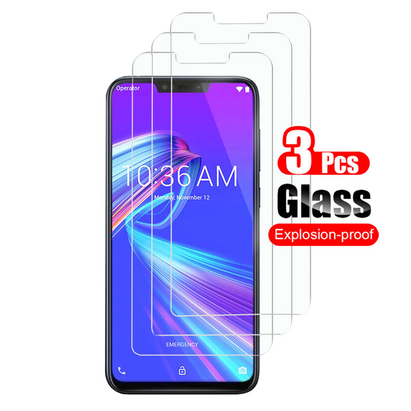 3Pcs Tempered Glass For Asus Zenfone Max Pro (M2) ZB631KL ZB633KL Screen Protector Guard 9H Toughened Protective Film 0.26mm