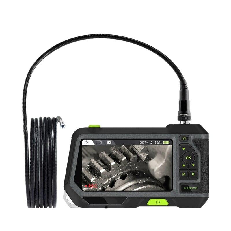 Aletler'ten Boroskoplar'de 5 inç endüstriyel endoskop Borescope 7.6mm Mini Lens muayene kamera ile 3 metre yarı sert tüp LED ışıkları ve araç kutusu title=