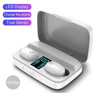 Bluetooth 5,0 наушники 1800 мАч зарядная коробка TWS беспроводные наушники 9D стерео спортивные водонепроницаемые наушники гарнитуры с микрофоном