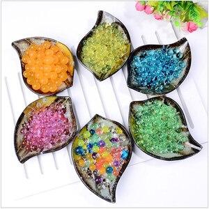 Crystal Soil Mud Hydrogel Gel Kids Children Toy Water Beads Growing Up Orbiz Water Balls Wedding Home Decor Potted 100pcs/bag F