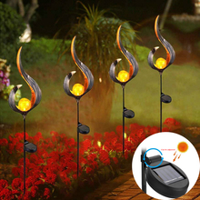 New Arrival Solar Flame Light Outdoor Waterproof Garden Solar Powered Metal LED Lawn Flame Effect Lamp Home Patio Lighting все цены