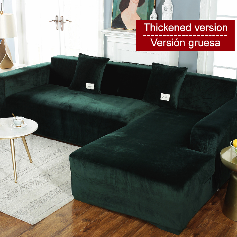 Housse de canapé extensible élastique 1/2/3/4 places Sof housse de canapé pour canapés universels salon sectionnel housse en forme de L