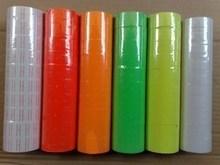 6-kolor 10 rolek za baryłkę 4000 sztuk jeden rząd cena naklejki samoprzylepne etykieciarki papieru metka z ceną wkład do MX-5500 metka z ceną pistolet tanie tanio High Quality JA20160814001S 23inch 5inch Tagi Cena tagi 300g