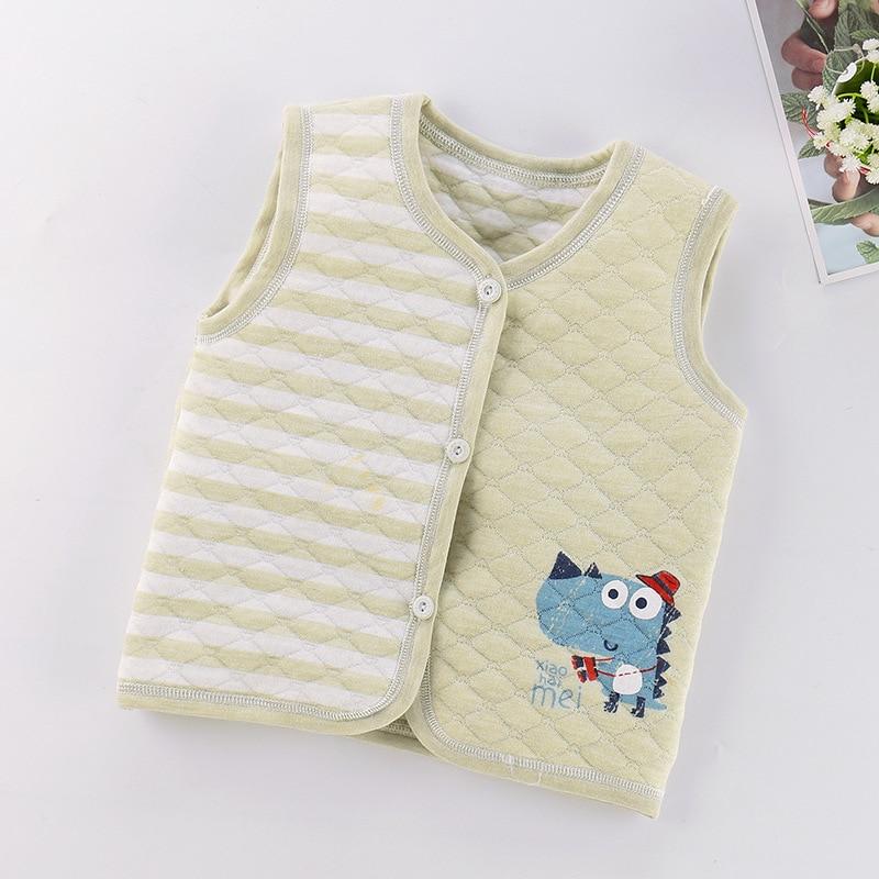 PPXX Children Baby Cotton Vest Waistcoat Kids Vest Toddler Baby Vest for Boys Girls Clothes Jacket Sleeveless Coat Newborn 1