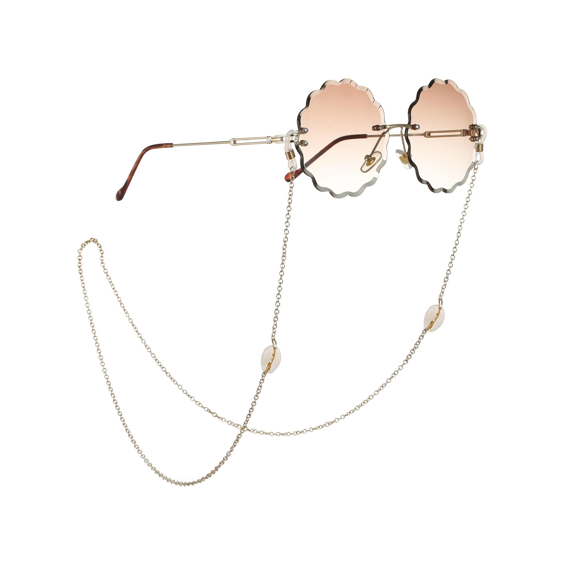 New Women Conch Shell Reading Glasses Chain Sunglasses Cord Holder Neck Strap Rope Necklace Anti-skidding Men Eyeglass Lanyard