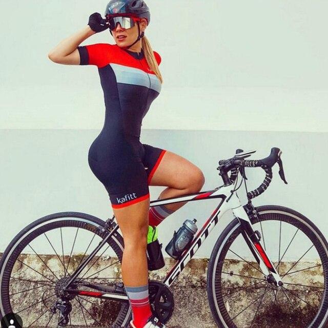 Moda feminina triathlon manga curta camisa de ciclismo define skinsuit maillot ropa ciclismo bicicleta jérsei roupas macacão 5