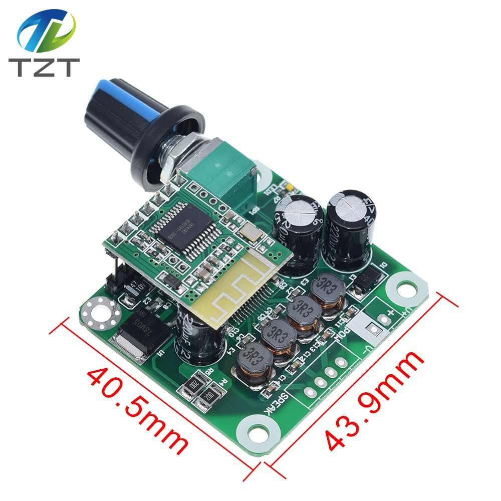 TZT Bluetooth 4.2 TPA3110 15w+15W Digital Stereo Audio Power Amplifier Board Module 12V-24V car for USB Speaker,Portable Speaker