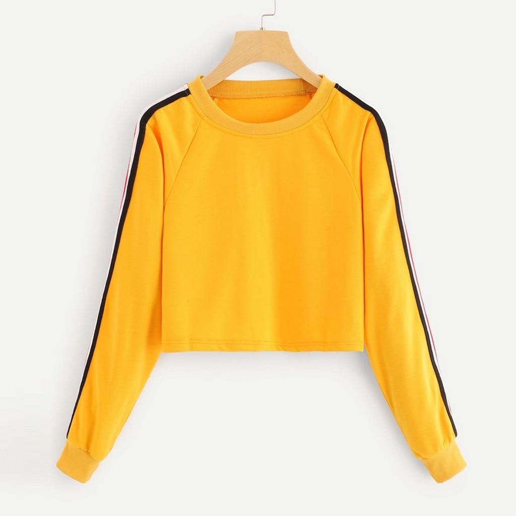 Womens Vintage Rose Crop Top Pullover Sweatshirt Cute Long Sleeve Sports Tops