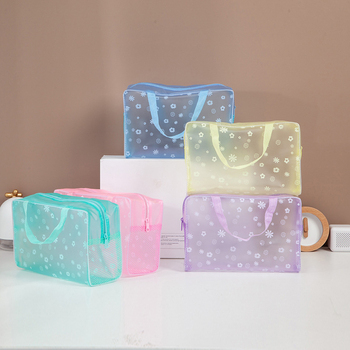 New Fashion Waterproof Portable Makeup Organizer Bag Toiletry Travel Make up Wash Toothbrush Pouch Cosmetic Storage Bag pvc hasp waterproof portable durable makeup bath toiletry travel wash toothbrush pouch zipper bag case multi size